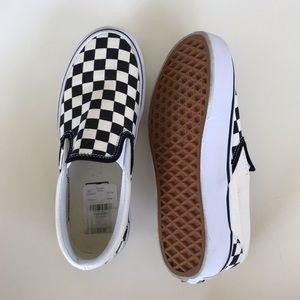 Vans platform checked slip on